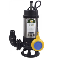 "JS Pump JS 750 SK Submersible Sewage Shredder Pump 110v 400 Lpm 14 Hm 2"""