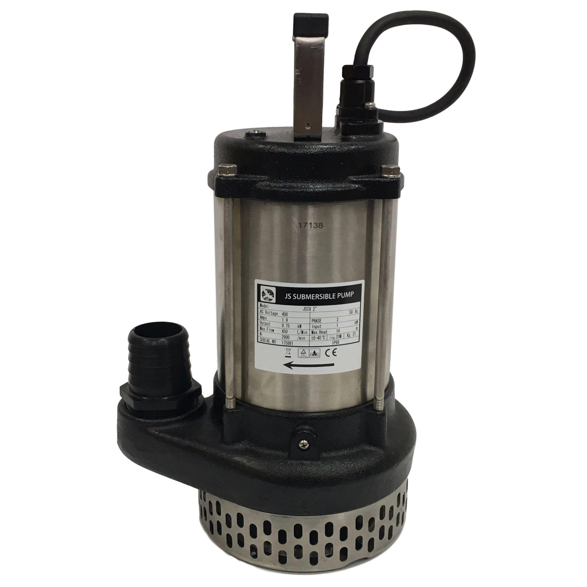"""JST 8 Pump - 380 Lpm - 15 Hm - 2"""" - 3"""" - 415v"""