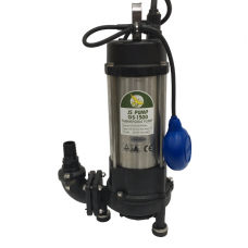 JS Pump GS 1500 Submersible Sewage Grinder Macerator Pump 230v 145 Lpm 25 Hm 1 1/4""